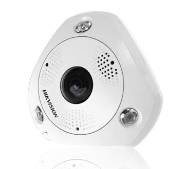 """image Fisheye - Caméra 360° extérieure et antivandale  IP, 6MP 1/1.8"""" progressive scan CMOS"""